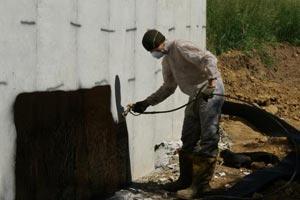 Concrete home basement waterproofing in atlanta marietta for Foundation blanket wrap insulation